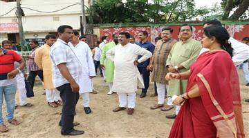 Khabar Odisha:Union-Ministers-visit-to-the-venue-ahead-of-AmitShah-Jis-programme