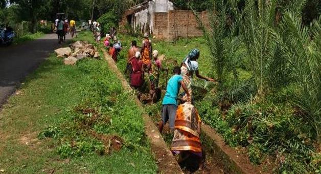Khabar Odisha:Villagers-renovate-canal-7-village-bedeviled-from-this-work