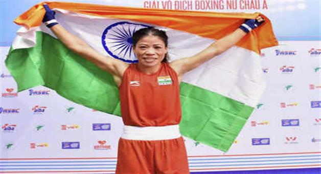 Khabar Odisha:With-the-victory-the-Tokyo-Olympics-kicked-off-with-a-fist-fight-by-Mary-Kom