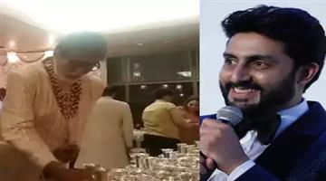 Khabar Odisha:abhishek-bachchan-reply-on-why-was-amitabh-bachchan-serving-food-in-isha-ambani-wedding
