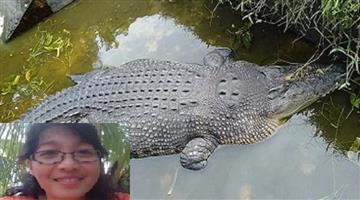 Khabar Odisha:ajab-khabar-Odisha-female-scientist--eaten-alive-by-crocodile-indonesia