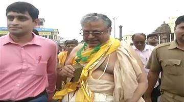 Khabar Odisha:amikas-curi-will-eet-puri-gajpati-today