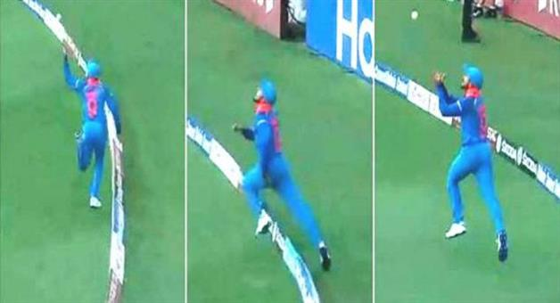 Khabar Odisha:asia-cup-2018-india-vs-pakistan-manish-pandey-takes-a-stunner-to-dismiss-pakistan-skipper-sarfraz-ahmed