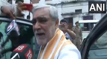 Khabar Odisha:bihar-man-threw-ink-on-union-minister-ashwini-choubey
