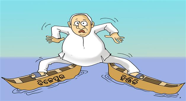 Cartoon Odisha:cartoon-odisha-naveen-pattanaik-stands-from-2-seats