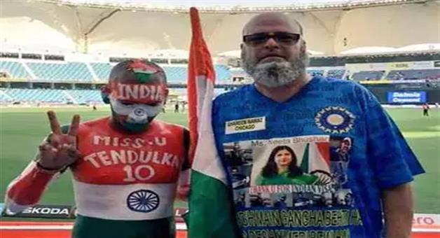 Khabar Odisha:chicago-chacha-sponsors-ticket-of-indian-cricket-team-fan-sudhir-gautam