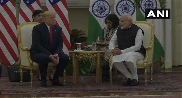 Khabar Odisha:donald-trump-in-delhi-narendra-modi-bilateral-talks-defense-deal-india-america