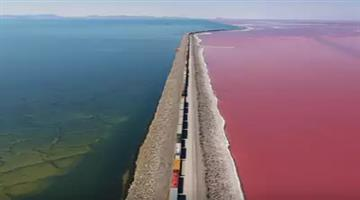 Khabar Odisha:drone-video-shows-the-effects-of-different-salt-levels-in-great-salt-lake