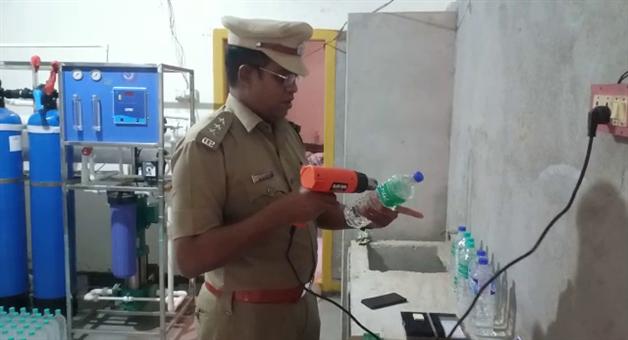 Khabar Odisha:duplicate-Water-bottle-indusrty-Busted