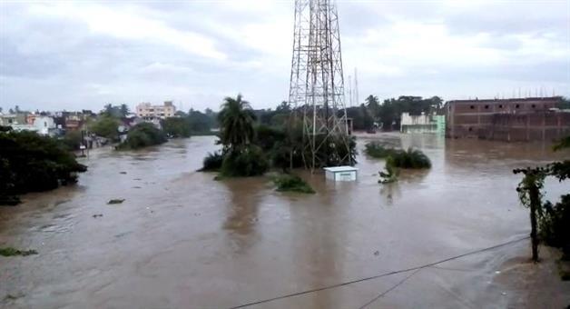 Khabar Odisha:flood-situation-in-odisha-after-titli