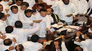 Khabar Odisha:heavy-ruckus-in-parliament-of-sri-lanka