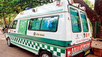 Khabar Odisha:man-died-in-ambulance-bhabanipatna