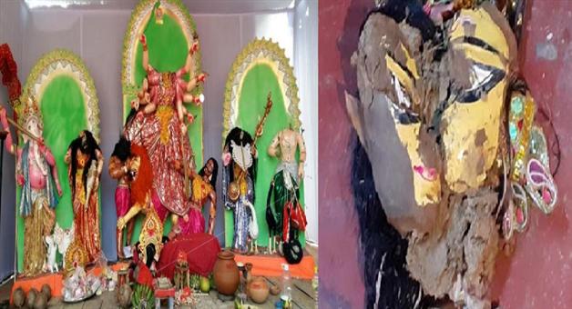 Khabar Odisha:national-odisha-8-events-of-stone-pelting-on-hindus-during-durga-idol-immersion-and-vandalising-durga-idol