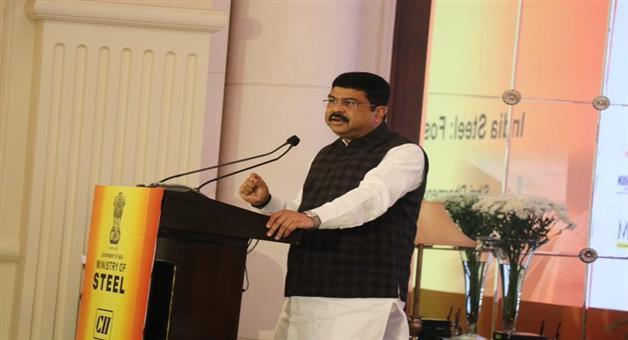 Khabar Odisha:national-odisha-Dharmendra-pradhan-at-India-Steel-Workshop