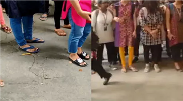 Khabar Odisha:national-odisha-hyderabad-college-hires-security-to-check-women-students-kurti-length-video-goes-viral