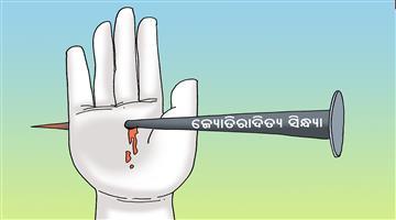 Khabar Odisha:odisha-cartoon-jyotiraditya-sindhya-congress