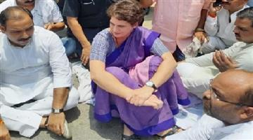 Khabar Odisha:police-stops-priyanka-gandhi-sonbhadra-district-in-ghoraval-firing-clash