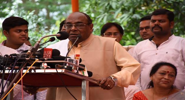 Khabar Odisha:political-state-odisha-dama-rout-target-naveen-patanaik-at-bjp-party-office