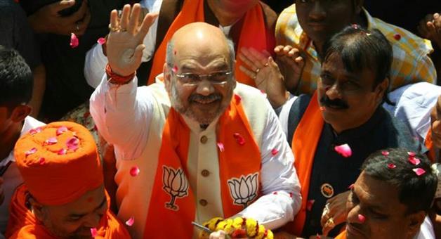 Khabar Odisha:politics-odisha-bjp-president-amit-shah-road-show-cuttack-april-17