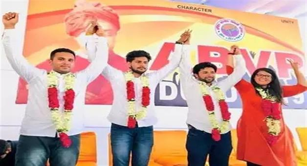 Khabar Odisha:politics-odisha-dusu-election-2019-abvp-wins-3-seats-including-president