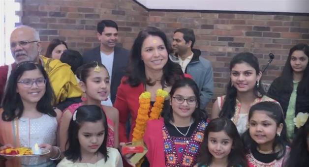 Khabar Odisha:saraswati-puja-america-odisha-first-hindu-american-senator-tulsi-gabbar-says-proud-of-her-hindu-roots-participated-in-saraswati-puja