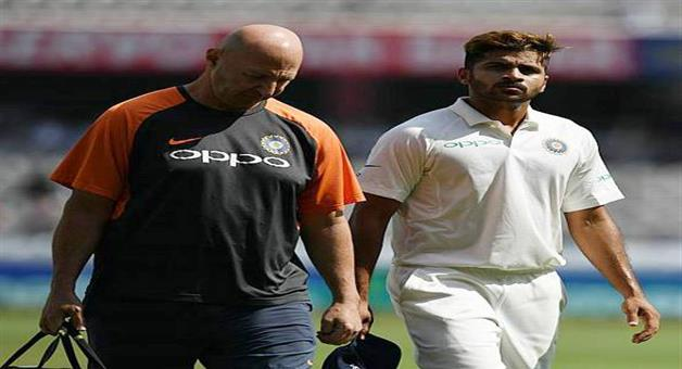 Khabar Odisha:shardul-thakur-suffers-groin-strain-on-test-debut-india-vs-westindies-selection-test-team