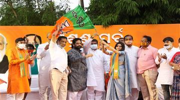 Khabar Odisha:smrutirekha-pahi-join-BJP-in-the-present-of-central-minister-dharmendra-pradhan