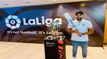 Khabar Odisha:sports--cricket--odisha-la-liga-names-rohit-sharma-as-brand-ambassador