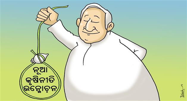 Khabar Odisha:state-cartoon-odisha-krushi-niti-2020