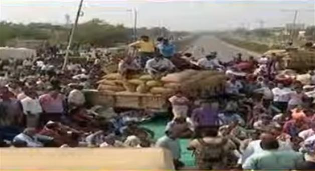 Khabar Odisha:state-odisha--farmer-strike-Withdrawal-in-sambalpur-after-the-promise-of-minister