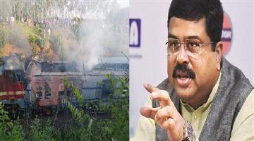 Khabar Odisha:state-odisha-dharmendra-pradhan-talks-to-piyush-goel-over-samaleswari-express-accident