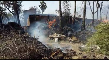 Khabar Odisha:state-odisha-fire-mishap-at-delanga-15-room-burnt-out