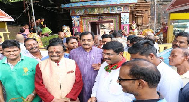 Khabar Odisha:support-Raghunath-Mohapatras-vision-for-a-second-Konark-said-Dharmendra-Pradhan