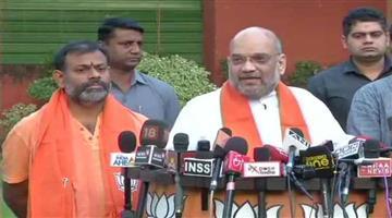 Khabar Odisha:swami-paripurnanand-joins-bharatiya-janata-party-in-the-presence-of-amit-shah