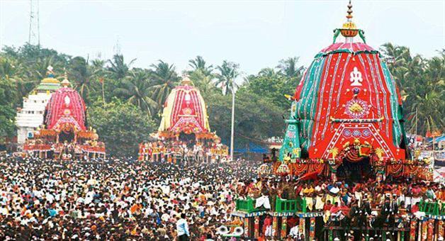 Khabar Odisha:taladwaja-chariot-of-balabhadra-moves-towards-shreemandir-temple