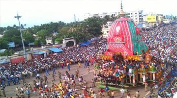 Khabar Odisha:taladwaja-of-balabhadra-moves-towards-gundicha-temple