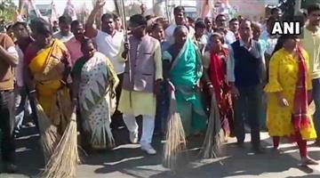 Khabar Odisha:tmc-purified-ground-with-cow-dung-and-gangajal-after-bjp-rally