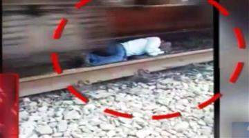 Khabar Odisha:train-run-over-man-miracle-at-dholpur-railway-station
