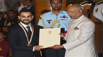 Khabar Odisha:virat-kohli-and-mirabai-chanu-shares-rajiv-gandhi-khail-ratan-award